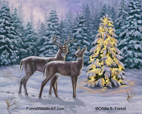 Christmas Themed Paintings - Christmas Decore
